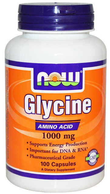 Glycine 1000 mg NOW (100 Capsules)