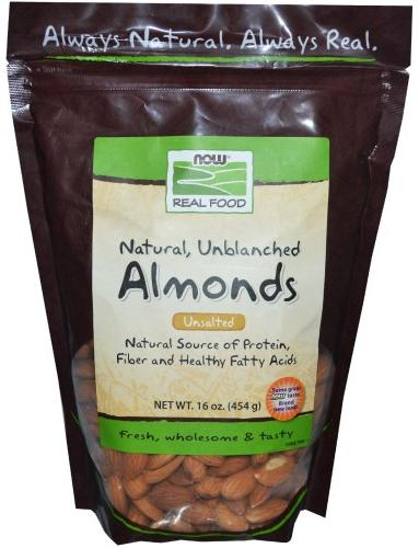 Raw Almonds (Миндаль) 16 oz NOW (454 гр)