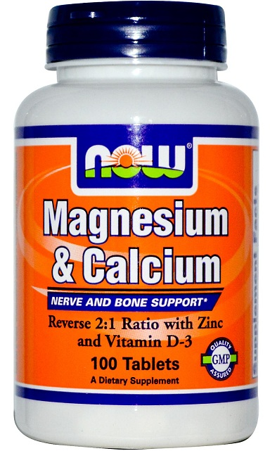 Magnesium & Calcium NOW (100 Tablets)