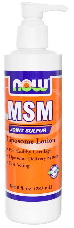 MSM Joint Sulfur Liposome Lotion 8 oz NOW (237 ml)