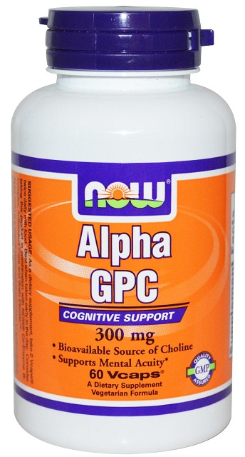 Alpha GPC 300 mg NOW (60 вег кап)