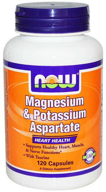 Magnesium & Potassium Aspartate with Taurine NOW (120 Cap)