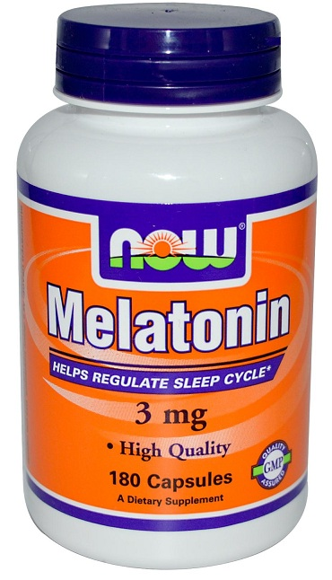 Melatonin 3 mg NOW (180 кап)