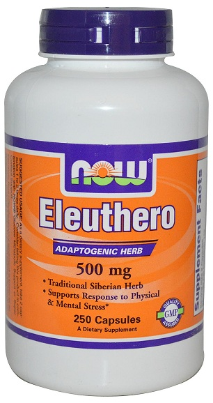 Eleuthero 500 mg NOW (250 кап)