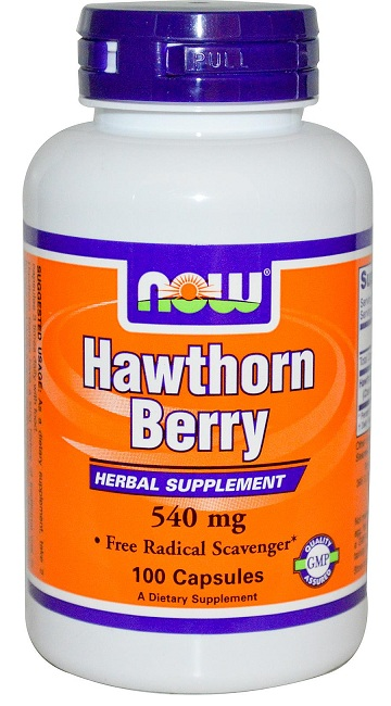 Hawthorn Berry 540 mg NOW (100 Caps)(EXP 04/2017)