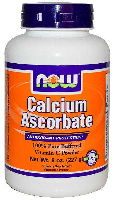 Calcium Ascorbate Powder 8 oz NOW (227 гр)(годен до 10/2016)