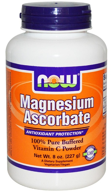 Magnesium Ascorbate Powder 8 oz NOW (227 гр)(годен до 11/2016)