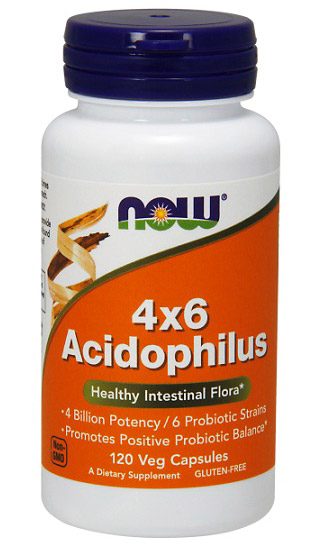 Acidophilus 4x6 NOW (120 вег. кап)