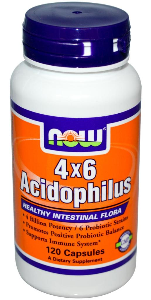 Acidophilus 4x6 NOW (60 кап)