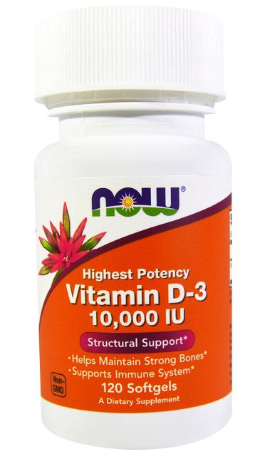Vitamin D-3 10000 IU NOW (120 гель кап)