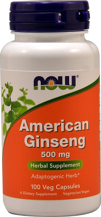 American Ginseng 500 mg NOW (100 caps)