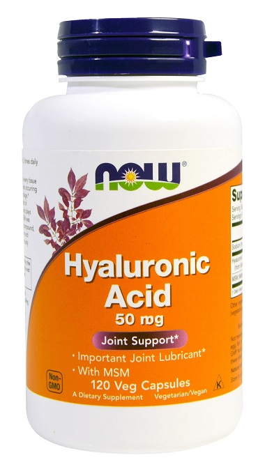 Hyaluronic Acid with MSM NOW (120 вег кап)