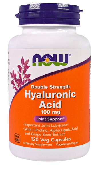 Hyaluronic Acid 100 mg NOW (120 вег кап)