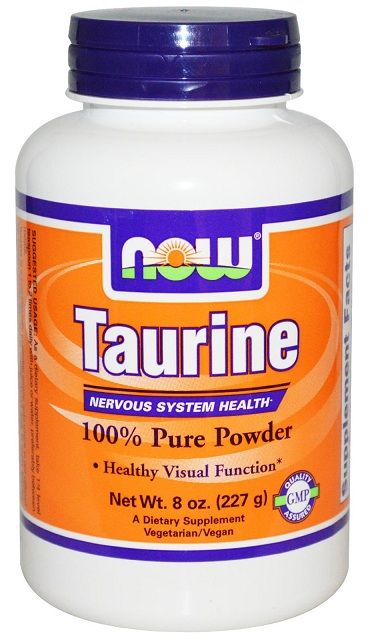 Taurine Powder 8 oz NOW (227 gr)