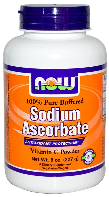 Sodium Ascorbate Powder 8 oz NOW (227 гр)(годен до 08/2016)