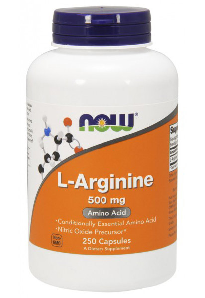 L-Arginine 500 mg NOW (250 cap)