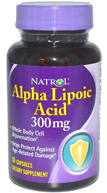 Alpha Lipoic Acid 300 mg Natrol (50 кап)