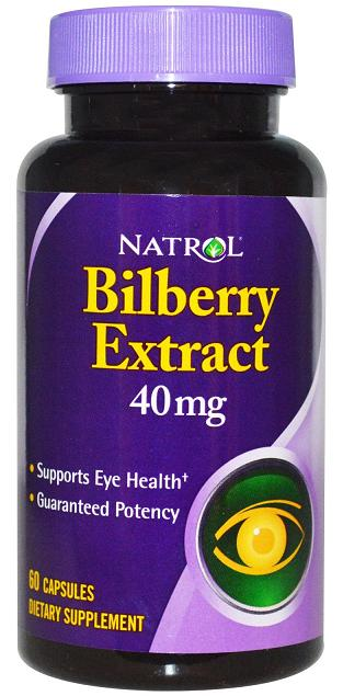 Bilberry Extract 40 mg Natrol (60 кап)