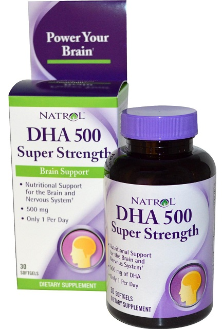 DHA 500 mg Super Strength Natrol (30 гелевых капсул)