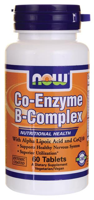 Co-Enzyme B-Complex NOW (60 tab)