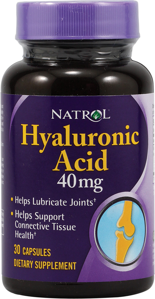 Hyaluronic Acid 40 mg Natrol (30 кап)