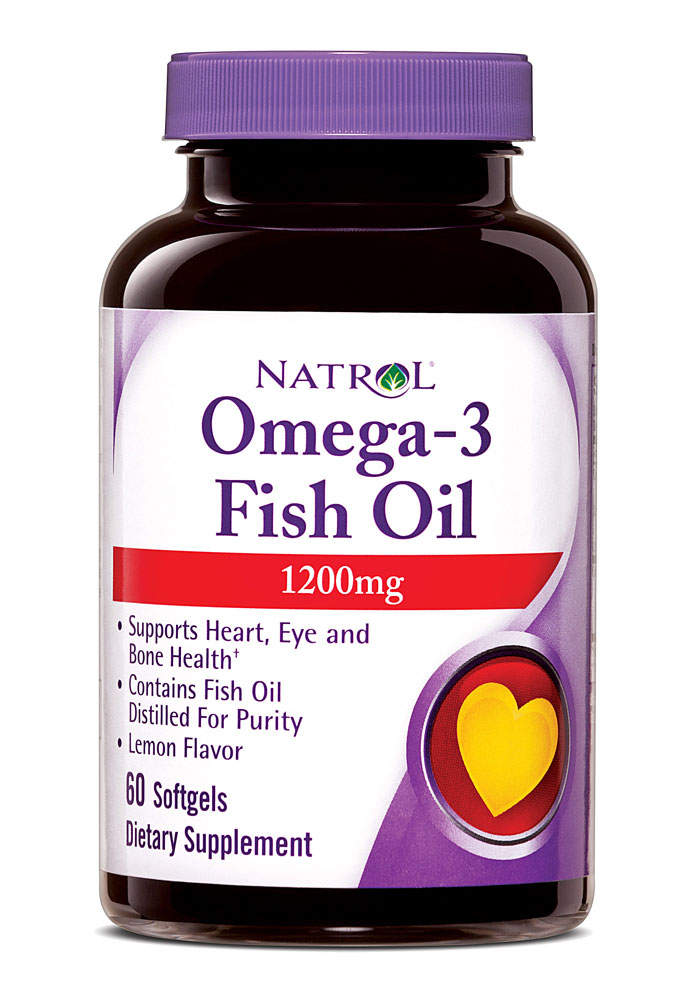 Omega-3 Fish Oil 1200 mg Natrol  (60 softgels)