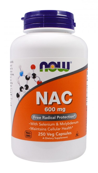 NAC 600 mg NOW (250 вег кап)