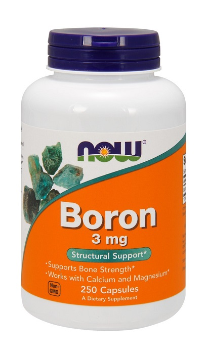 Boron 3 mg NOW (250 кап)