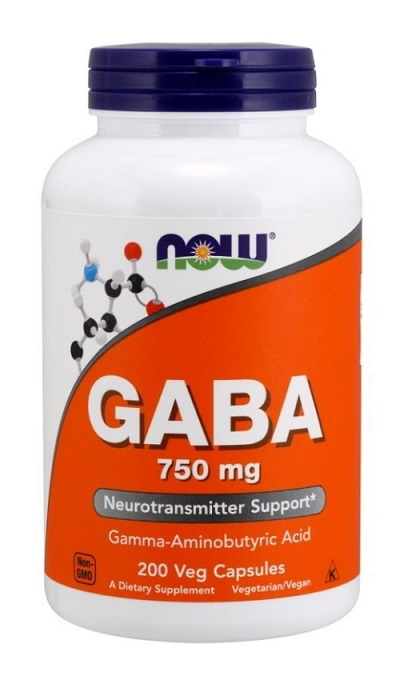GABA 750 mg NOW (200 Vcaps)