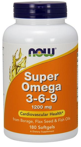 Super Omega 3-6-9 1200 mg NOW (180 Softgels)