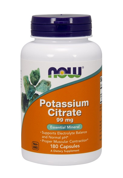Potassium Citrate 99 mg NOW (180 кап)