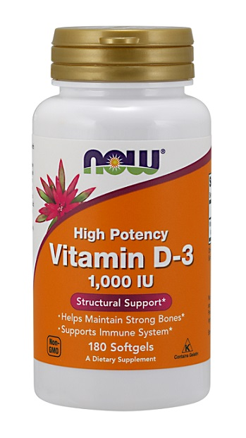 Vitamin D-3 1000 IU NOW (180 гель кап)