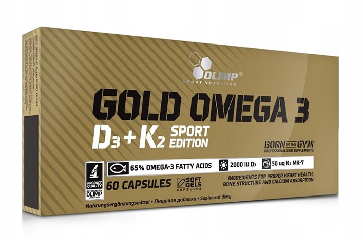 Gold Omega 3 D3+K2 Sport Edition Olimp (60 кап)