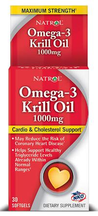 Omega-3 Krill Oil Maximum Strength 1000 mg Natrol (30 гель кап)
