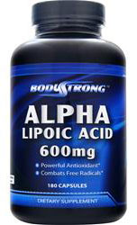 Alpha Lipoic Acid 600 mg BodyStrong (180 кап)