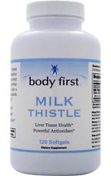 Milk Thistle 250 mg Body First (120 гелевых капсул)