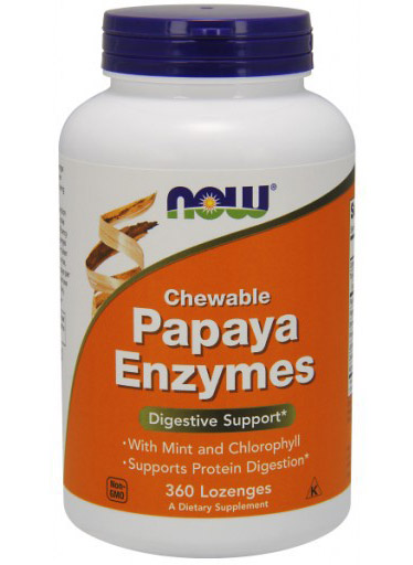 Papaya Enzyme NOW (360 Lozenges)(EXP 11/2017)