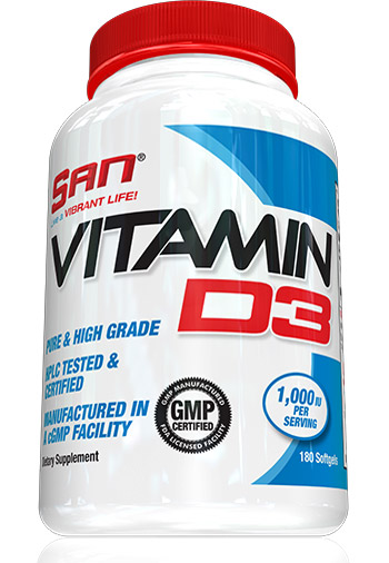 Vitamin D3 SAN (180 softgels)