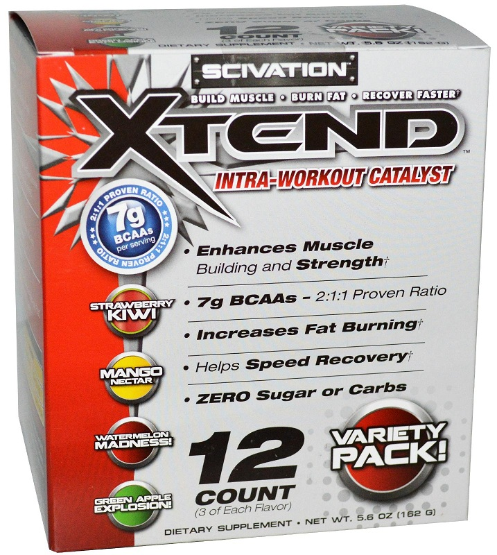 Xtend Variety Pack Scivation (12 пак, 162 гр)