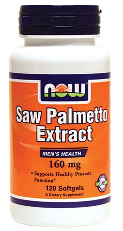 Saw Palmetto Extract 160 mg NOW (120 Softgels)