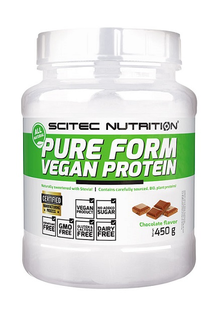 Pure Form Vegan Protein Scitec Nutrition (450 гр)