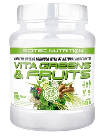 VITA GREENS & FRUITS WITH STEVIA SCITEC NUTRITION (600 gr)