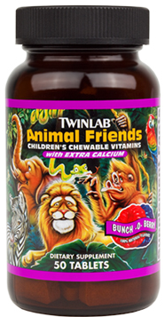 Animal Friends Children's Chewable Vitamins Twinlab (50 tab)