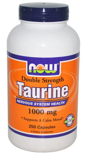 Taurine 1000 mg Double Strength NOW (250 кап)