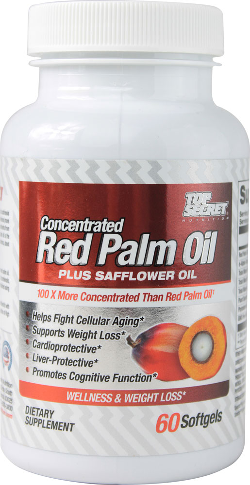 Red Palm Oil Plus Safflower Oil Top Secret Nutrition (60 caps)