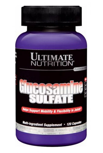 Glucosamine Sulfate 500 mg Ultimate Nutrition (120 кап)(до 12/17