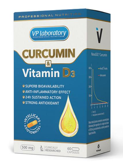Curcumin & Vitamine D3 VP Laboratory (60 caps)