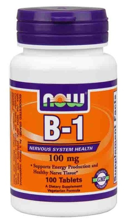 Vitamin B-1 (Thiamine) 100 mg NOW (100 таб)