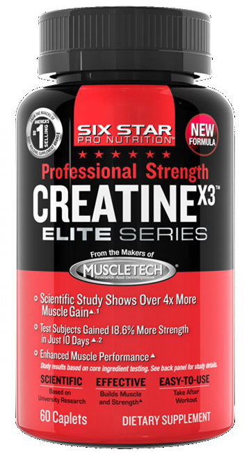 Creatine X3 Elite Series Six Star (60 cap)