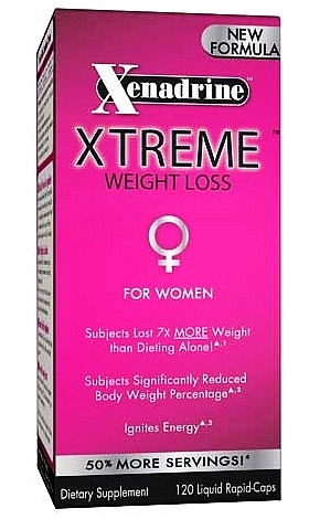 Xenadrine Xtreme for Women (120 Liquid Caps)